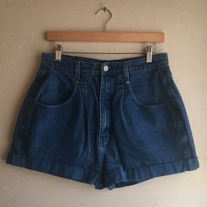 Brittania high-waisted jean shorts